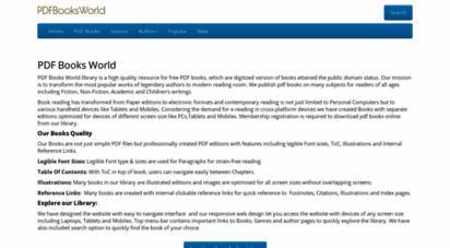 pdfbooksworld.com - pdf books library to download free ebooks