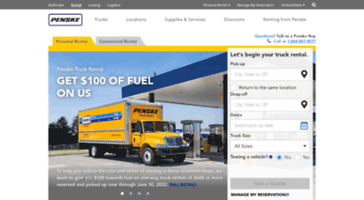 pensketruckrental.com - penske truck rental - moving truck rentals