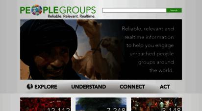 peoplegroups.org - people groups: home