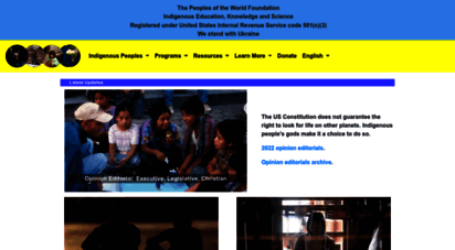 peoplesoftheworld.org - the peoples of the world foundation