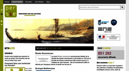 persee.fr - persée : accéder à des milliers de publications scientifiques - persée