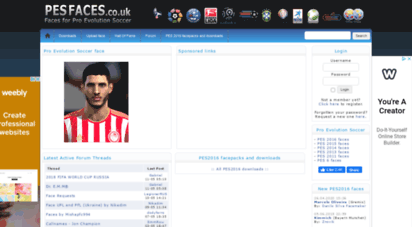 pesfaces.co.uk - download faces and hair for pro evolution soccer 2012, 2011, pes6 etc. - pesfaces