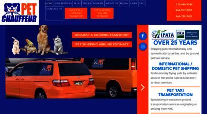 Welcome to Petchauffeur com - Pet Transportation, Pet Taxi