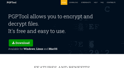 pgptool.github.io - pgptool - use this tool to encrypt and decrypt pgp files. openpgp compatible