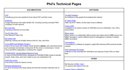 phildev.net - phil´s technical pages