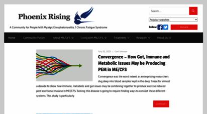 phoenixrising.me - phoenix rising — a chronic fatigue syndrome me/cfs and neuroendocrineimmune nei conditions website