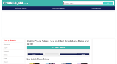 phoneaqua.com - mobile phone prices: new and best mobile prices and specs - phoneaqua
