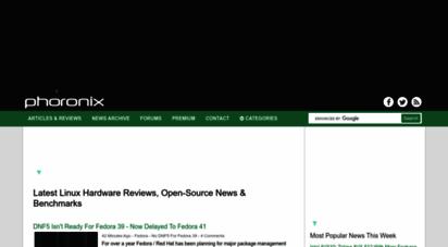 phoronix.com - linux hardware reviews, open-source benchmarks & linux performance - phoronix