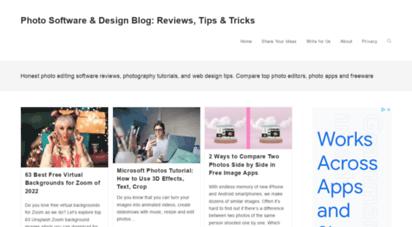 photosoftwareblog.com - photo software reviews, photo editing tips, design blog