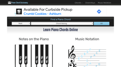 pianochorddictionary.com - piano chord dictionary online piano chords