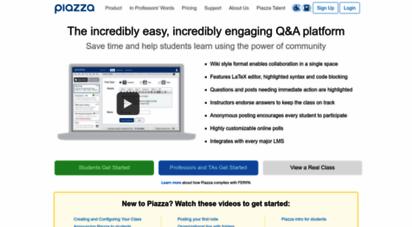 piazza.com - piazza • ask. answer. explore. whenever.