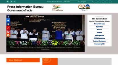pib.gov.in - press information bureau