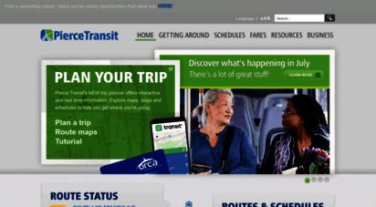 piercetransit.org - home pierce transit
