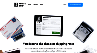 pirateship.com - free usps shipping software  pirate ship