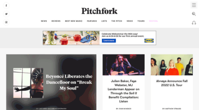 pitchfork.com - pitchfork  the most trusted voice in music.