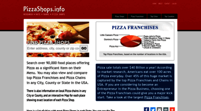 pizzashops.info - pizza shops - find, review and share pizza shops & pizza franchises