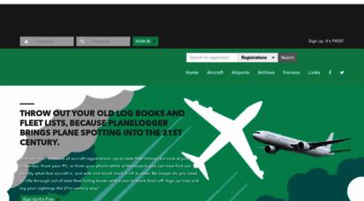 planelogger.com - online spotters logbook and aircraft registration database - planelogger