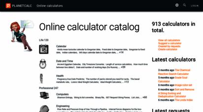 planetcalc.com - online calculators