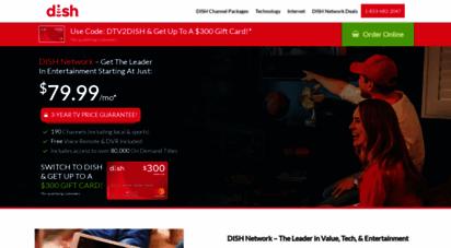planetdish.com - dish tv  $34.99/mo. satellite tv packages + internet bundles