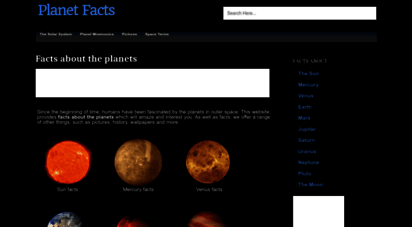 planetfacts.org - planet facts - fun & interesting information about the nine planets