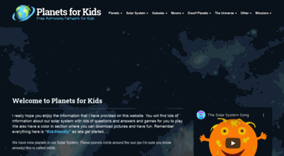 planetsforkids.org - planets for kids - solar system facts and astronomy