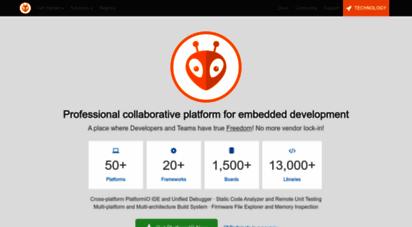 platformio.org - a professional collaborative platform for embedded development â· platformio