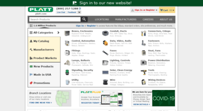 platt.com - platt electric supply - wholesale distributor of electrical, industrial, lighting, tools, control and automation products for the electrical, construction, commercial, industrial, utility and datacomm markets