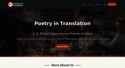 poetryintranslation.com - poetry in translation - a.s. kline´s free poetry archive - main site