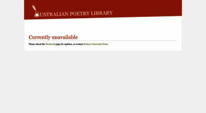 poetrylibrary.edu.au - home - australian poetry library
