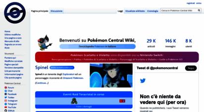 pokemoncentral.it - pokémon central wiki
