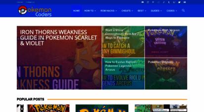 pokemoncoders.com - pokemon game cheats, rom hacks and gaming resources  pokemoncoders