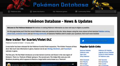 pokemondb.net - pokémon database  the fastest way to get your pokémon information