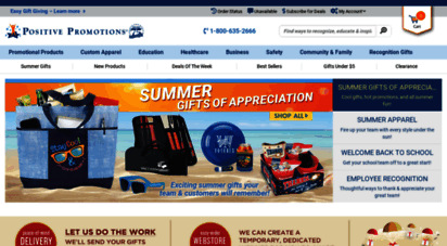 positivepromotions.com - positive promotions  promotional products, recognition gifts