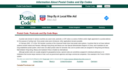 postal-code.org - search postal codes, postcodes and zip codes - information & maps  postal-code.org