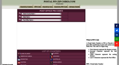 postalpinzipcodes.com - pin code  zip codes  postal code