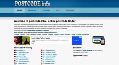 postcode.info - postcodes of the world - online postcode finder
