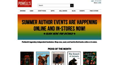 powells.com - powell´s books  the world´s largest independent bookstore