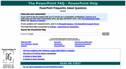 pptfaq.com - the powerpoint faq