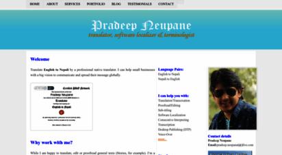 pradeepneupane.com.np - translate english to nepali  native translator  translator in nepal  english to nepali  nepali to english  hindi to nepali
