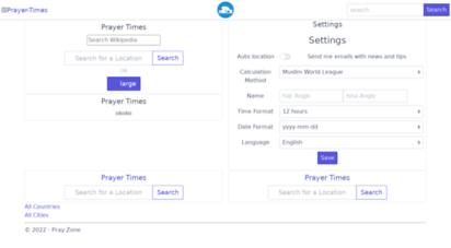 pray.zone - prayer times san francisco