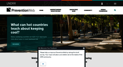 preventionweb.net - preventionweb.net homepage - serving the information needs of the disaster reduction community