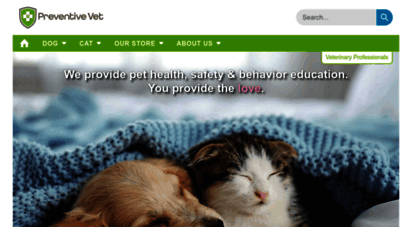 preventivevet.com - preventive vet  your trusted online pet health and safety resource