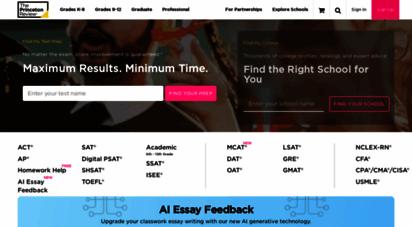 princetonreview.com - test prep tutoring  online test preparation  the princeton review