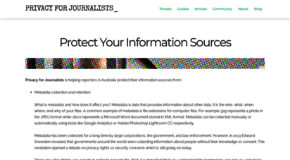 privacyforjournalists.org.au - home  privacy for journalists