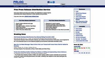 prlog.org - free press release distribution service - prlog