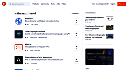 producthunt.com - product hunt - the best new products in tech.