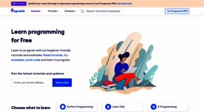 programiz.com - programiz: learn to code for free