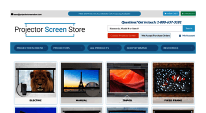 projectorscreenstore.com