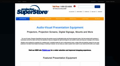 projectorsuperstore.com - projectors, projection screens & more - projectorsuperstore  home