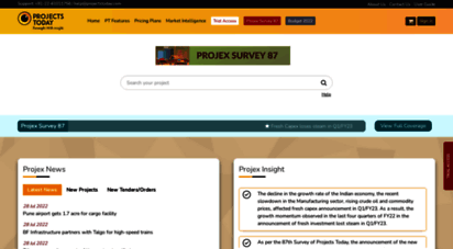 projectstoday.com - projectstodayprojects information, anlysis, reports & tenders